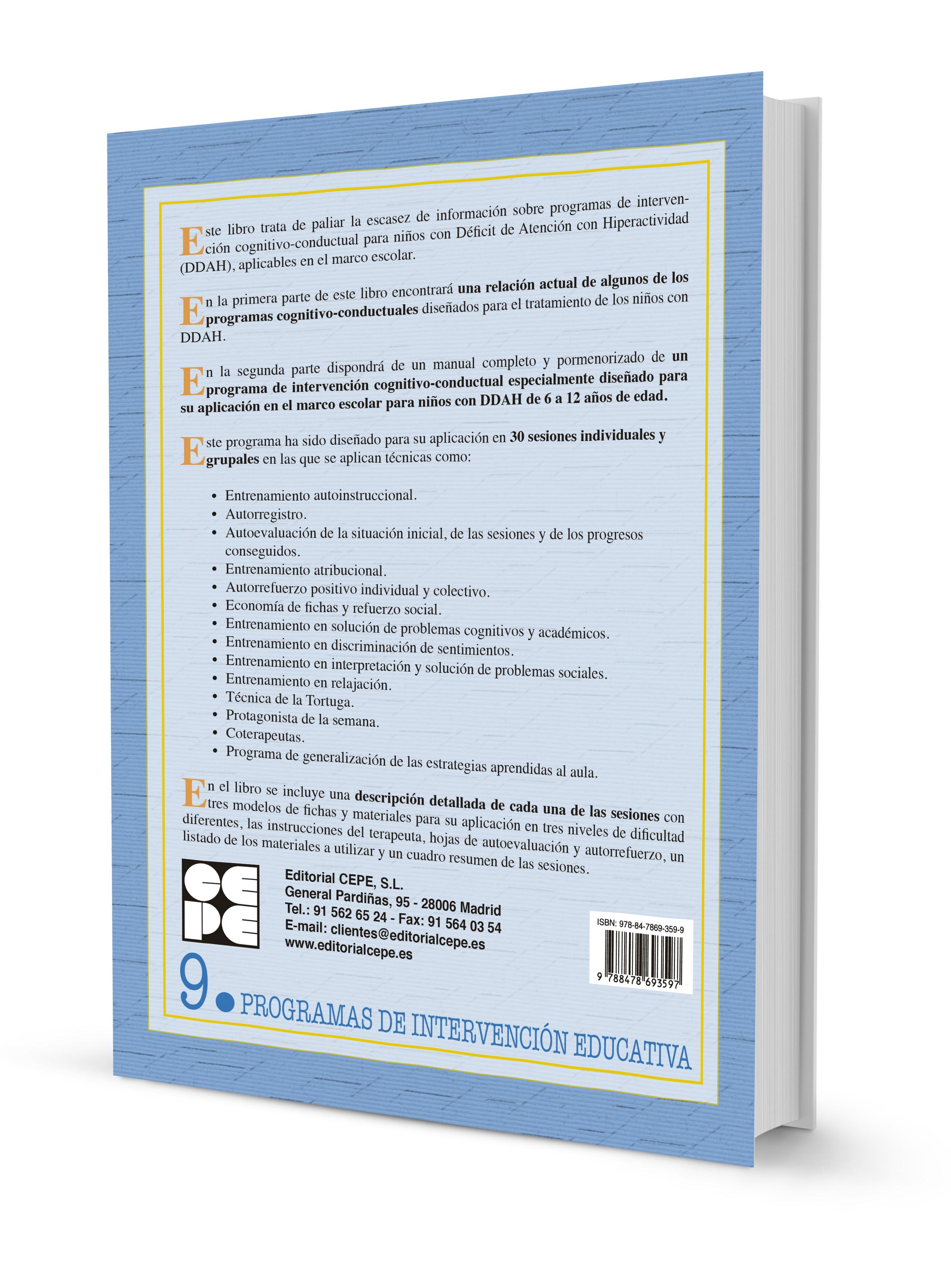 Programa de Intervención Cognitivo-Conductual para Niños con Déficit ...