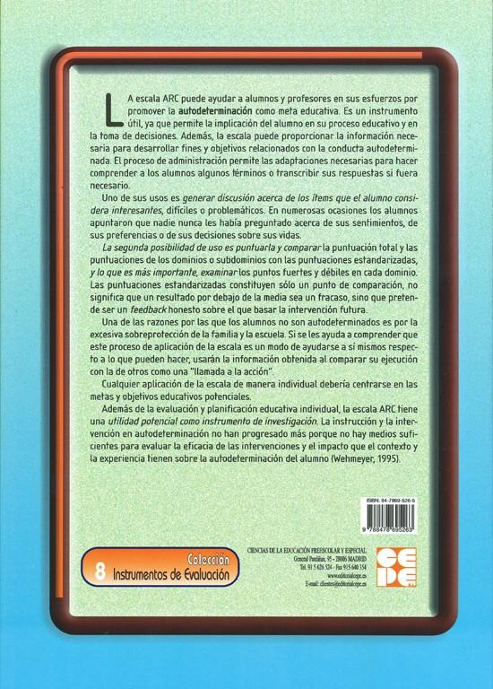 Escala de autodeterminación personal. ARC. Manual