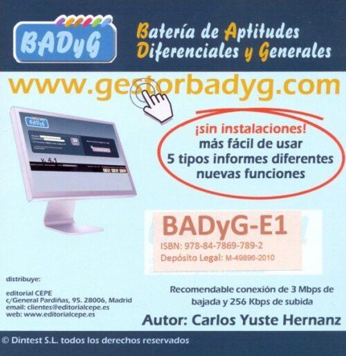 BADyG E1. Licencia On Line con 60 usos