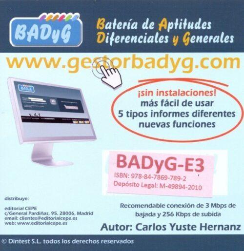 BADyG E3. Licencia On Line con 60 usos