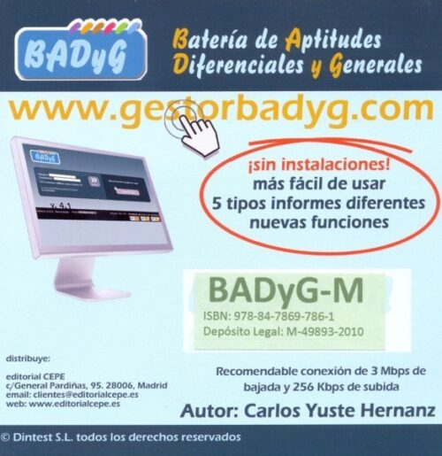 BADyG M. Licencia On Line con 60 usos