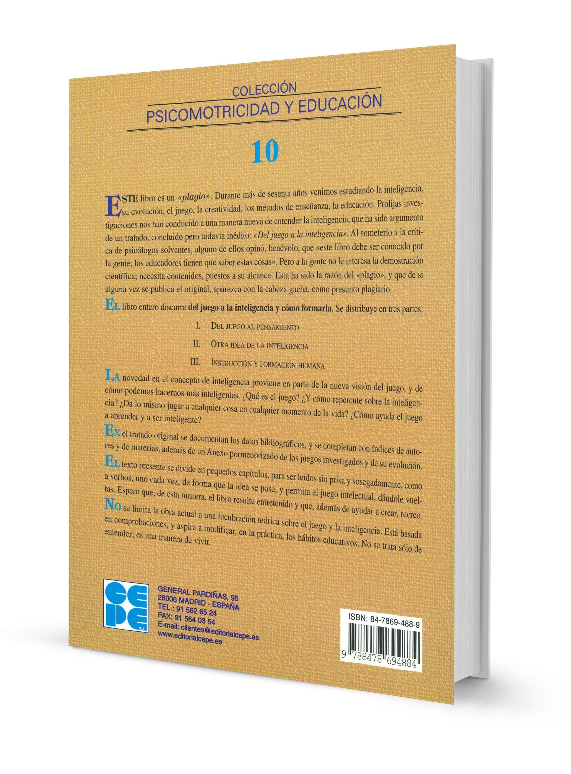 Del Juego a la Inteligencia y Cómo Formarla. Vol. III. Instrucción y Formación Humana