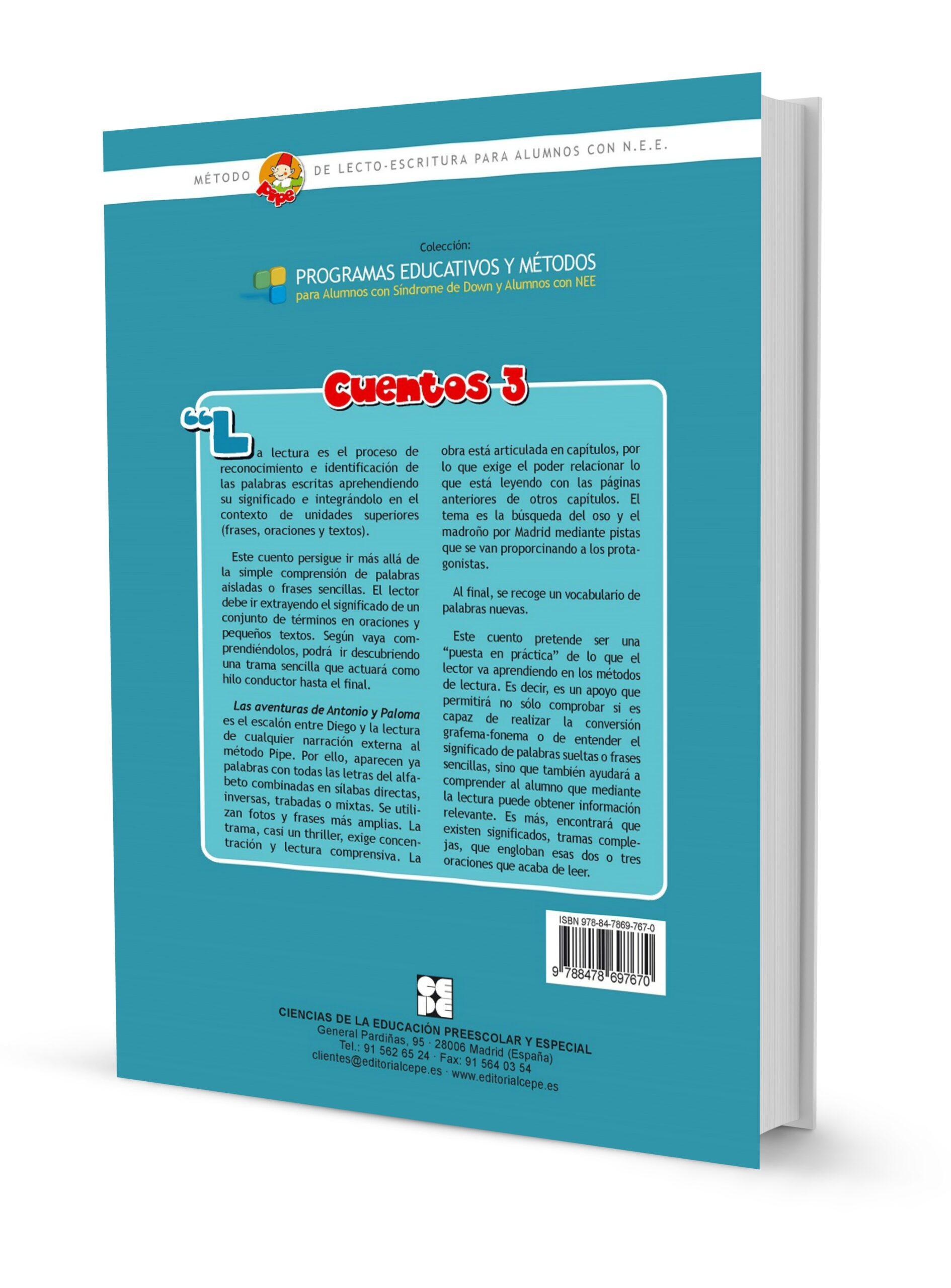 Método de lectura PIPE. Cuento 3. Las aventuras de Antonio y Paloma