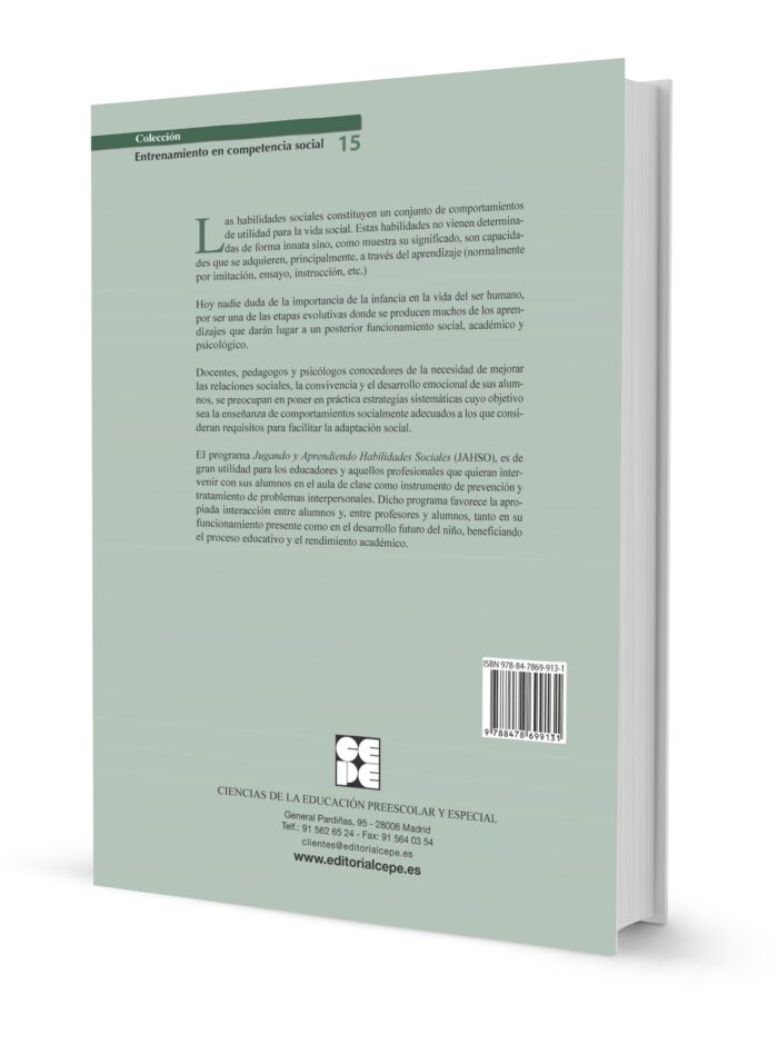 Programa Jugando y Aprendiendo Habilidades Sociales (JAHSO) MANUAL